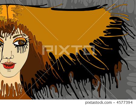 Girl Face Hair Banner 4577394