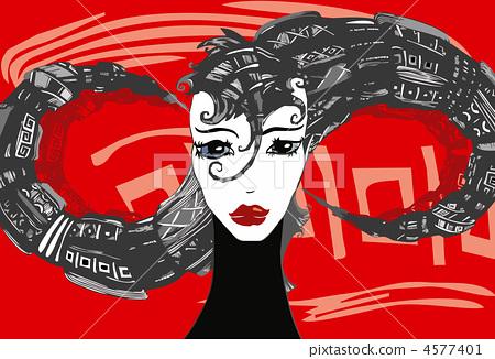 Girl Face Hair Red 4577401