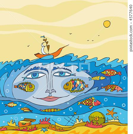 Sea Underwater  Fantasy Face 4577640