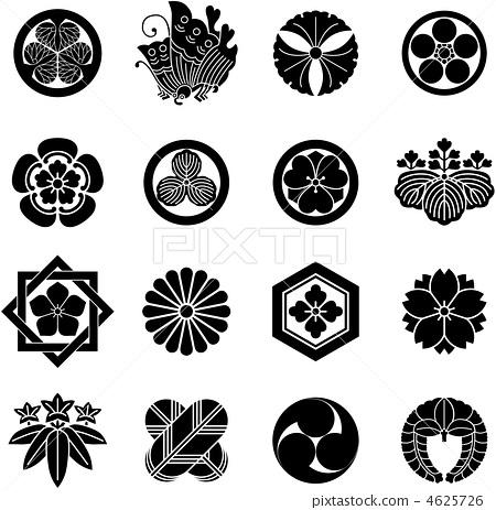 家族徽章 盾徽 矢量 4625726