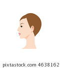 Illustration of a woman's profile 4638162