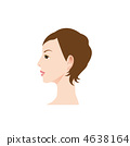Illustration of a woman's profile 4638164