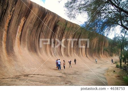 wave rock, tourist attraction, tourist destination 4638753