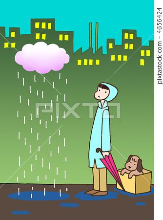 ฝนตก,เด็กผู้ชาย,อาคาร 4656424