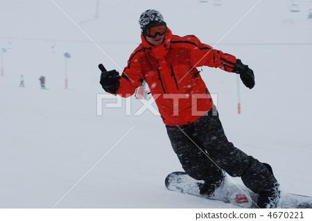 snowboarder  in complete satisfaction 4670221
