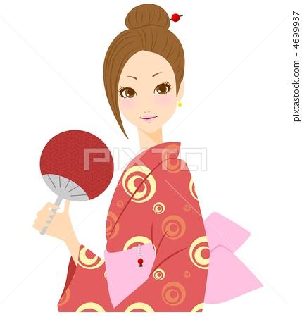 Yukata women illustration 4699937