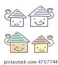 房屋的擬人化 4707744