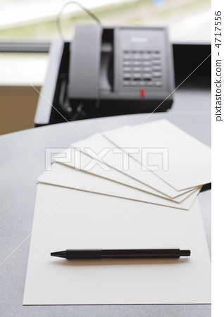 辦公設備/背景:固定電話(黑色電話) 4717556