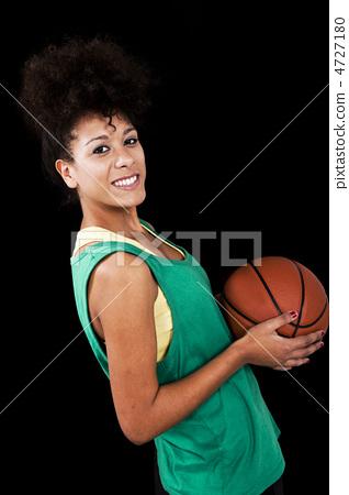 Woman with basketball 4727180