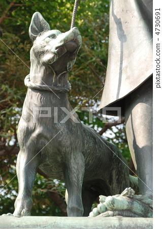 """사이고 다카모리가 데리고있는 개 """"츤""""동상 (우에노 공원 / 도쿄도 다이토 구) 4730691"""