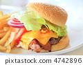 美味的美國漢堡包與大山雀 4742896