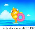 鮮魚游泳 4756192