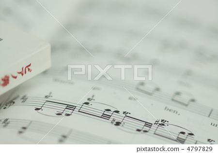Stock Photo: score, music score, scores