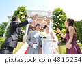新郎新娘 已婚的 婚姻 4816234