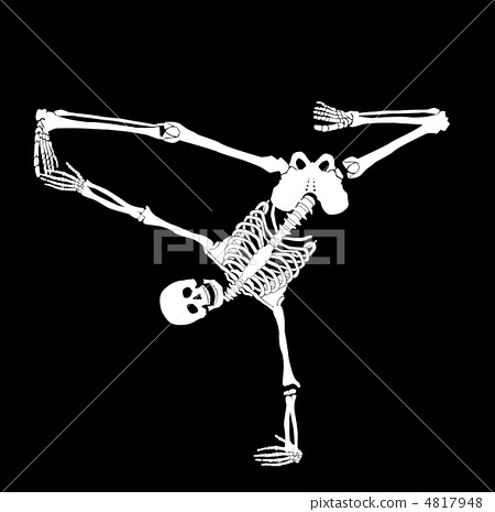 Skeleton break dancer 4817948