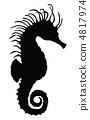 Vector sea horse. 4817974