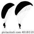 Paraglider before taking off . 4818019
