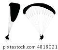Flying paraglider . 4818021