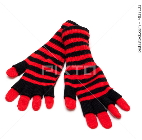 Striped red pair of the gloves 4832133