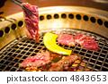 炭火烤的肉 烘烤的 炙烤的 4843653