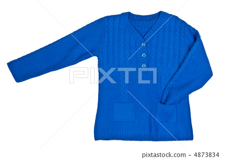 blue knitted sweater 4873834