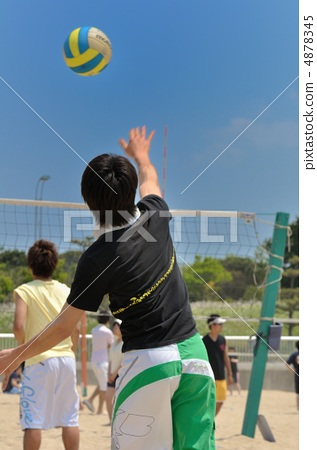Stock Photo: beach volleyball, sport, volleyball