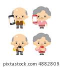 老年人使用智能手机 4882809