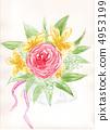 rose, watercolor 4953199