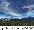 storm sky above snow tops of mountains 4954765