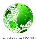 transparent the globe green color 4955003