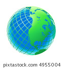 transparent the globe green and blue color 4955004