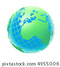 transparent the globe green and blue color 4955006