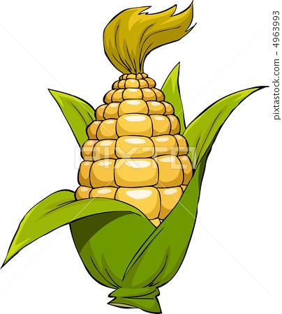 Cartoon corn 4963993