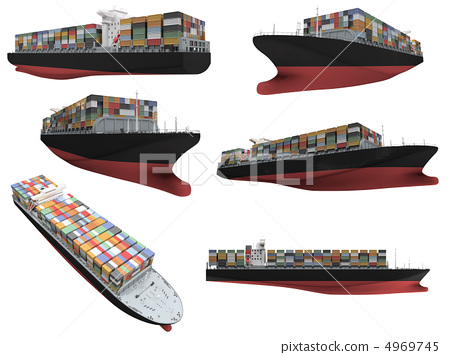 Collage of isolated ship 4969745