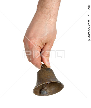 Hand holding bell 4995988