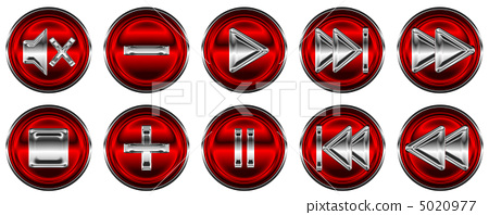 Collection of media controls and buttons 5020977