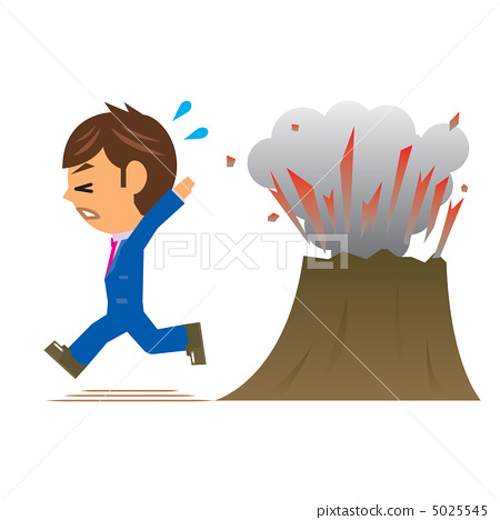 Businessman Illustration Eruptions 5025545