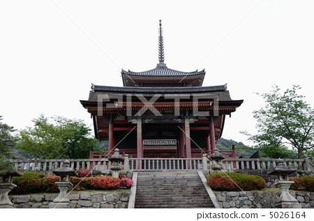 Kiyomizudera, Ximen and triple tower 5026164