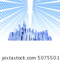 미래 도시 고층 빌딩의 도시 5075501