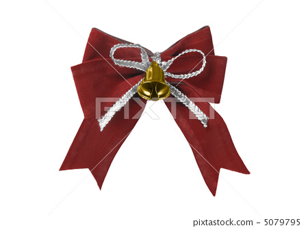 Beautiful red satin gift bow, isolated on white 5079795