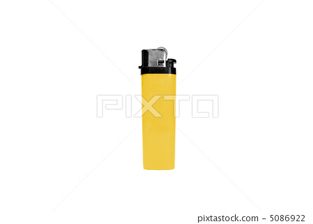 yellow lighter isolated on white 5086922