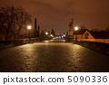 a beautiful night view of the Charles Bridge in Prague 5090336