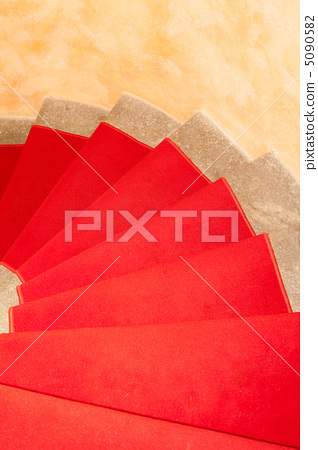 staircase with red carpet 5090582