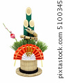 new year's pine decoration, year of the snake, mascot 5100345