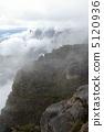 Clouds falling down Mount Roraima and Mount Kuchenan 5120936