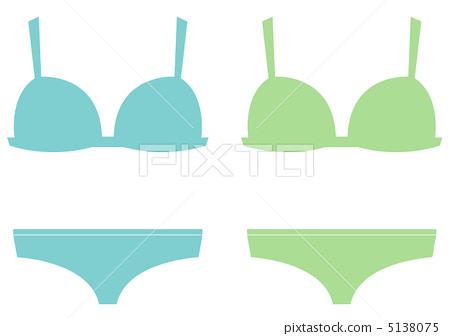 Underwear up / down · blue · green 5138075