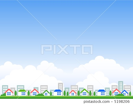 Clouds and streets and houses 5198206
