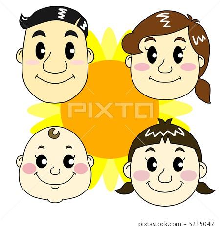 젊은 네 명의 가족 5215047