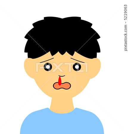 A boy giving off his nosebleed 5219063
