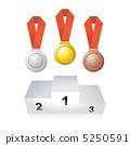 奖牌和讲台 5250591